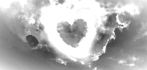 Cloud heart in the sky